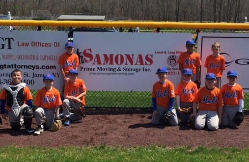 Samonas Prime supported Little League team photo